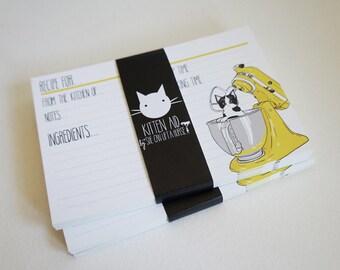Kitten Aid Recipe Cards - Yellow / Emilio
