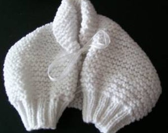 White Baby Shrug - Knitted Pattern
