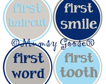 Baby Milestone Stickers My First Milestones Baby Stickers roll over sit up crawl walk stickers Great Newborn Photo Prop