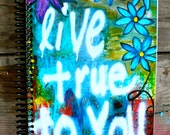 "Live True To You 5.5""x8"" Lined Paper Notebook, Journal, Stationery, Coil Bound Notebook, Wholesale Stationery"