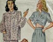 Vintage Simplicity 1230 PIn Up Pajama Pattern Bust 34