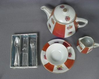 Miniature Silverware Set for Children or Display with Large Doll - Germany