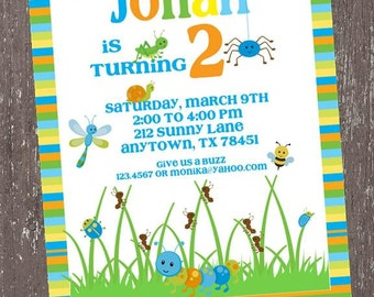 Little Bugs Birthday Invitations - 1.00 each with envelope