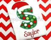 Machine Embroidery Design Applique Santa Hat Applique Alphabet INSTANT DOWNLOAD