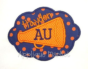 Machine Embroidery Design Applique Megaphone Oval INSTANT DOWNLOAD