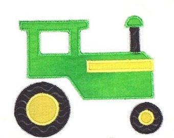 Machine Embroidery Design Applique Tractor INSTANT DOWNLOAD
