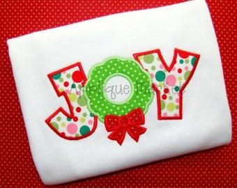 Machine Embroidery Design Applique Joy Wreath INSTANT DOWNLOAD