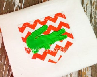 Machine Embroidery Design Applique In the Hoop V2 Pocket with Gator  INSTANT DOWNLOAD