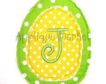 Machine Embroidery Design Applique Raggy Egg INSTANT DOWNLOAD