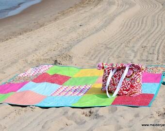 Custom Beach Blanket - Family Beach Blanket - Bridal Beach Blanket