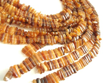 40 Golden horn stick beads 15mm - eco friendly and natural horn beads (PN405)