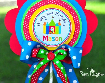 Bounce House Centerpiece, Bouncing Castle, XL Party Sign, Bounce House Birthday Party