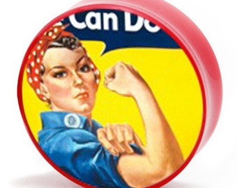 12g (2mm) Rosie the Riveter Vintage Propaganda Poster BMA Plugs Single Flare Pair