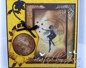 Cobweb, a woodland Fairy - gorgeous handmade birthday card