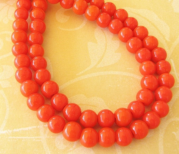 Reserved for Alice - Orange Necklace Bright Jewelry Tangerine Necklace Beaded Jewelry Orange Jewelry Set Orange Bracelet