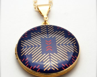"Alyson Fox  Art Locket Necklace ""Sticks"""