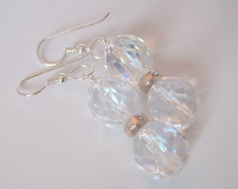 Crystal and Sterling Earrings