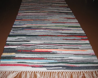 Handwoven Dark Multi (socks) Rag Rug 25 x 66 (M)