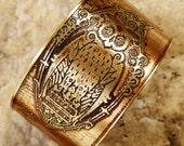 Etched Brass Cuff Cuff Night Owl