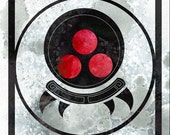 Space Monster Glyph - 8x8 metroid inspired motif illustration