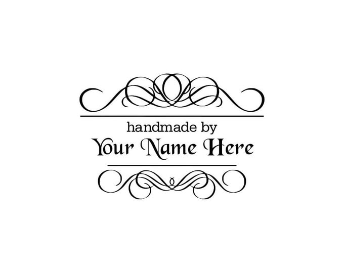 Personalized Custom Made Name Unmounted Rubber Stamps C11