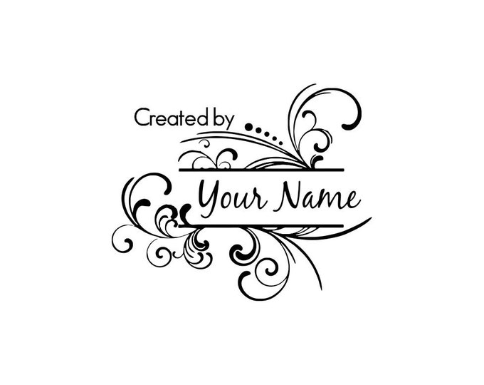 Personalized Custom Made Name Unmounted Rubber Stamps C18