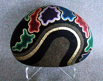 Unique OOAK 3-D Art Object, Decorative Art, Signed Numbered Art, Painted Rock, Collectible, Home or Office Decor, Conversation Piece, Gift