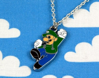 Luigi Super Mario Necklace