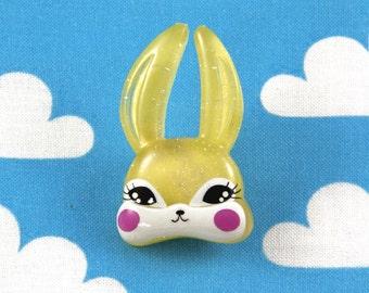 Kawaii Brooch Pin - Yellow Bunny Rabbit