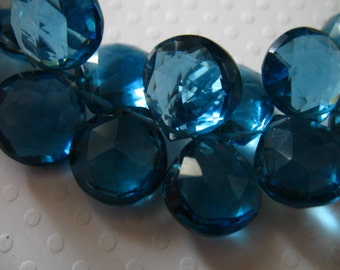 Shop Sale.. 2 4 10 pcs, QUARTZ Heart Briolettes Beads, Luxe AAA, London Blue, 11.5-12.5 mm, december birthstone giant bsc hydqtz59 solo
