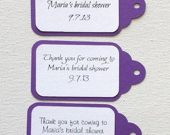 Simple personalized gift tags set of 20 in any color