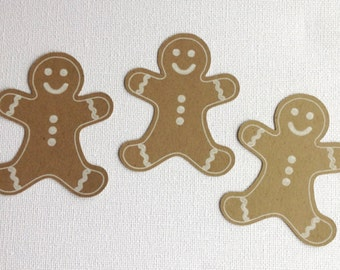 Gingerbread man die cut embellishments set of 12