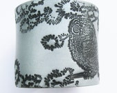SALE Owl Cuff, Silver Cuff Bracelet, Handmade Jewelry by theshagbag