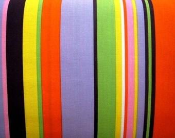 Good Earth Flower Stripe in Brite by Alexander Henry - Last Yard