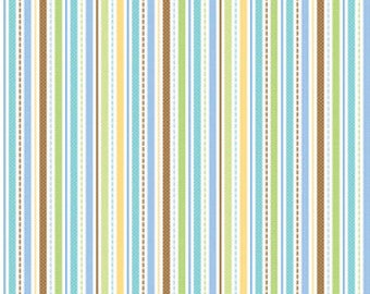 Snips and Snails Stripe in Multi  by Doodlebug for Riley Blake - 1 Yard