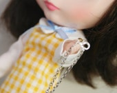 Purple Pearl Necklace - for Blythe, Barbie or similar