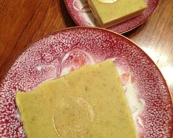 SALE Organic Calendula and Oats Vegan Handcrafted Soap organic lavender geranium