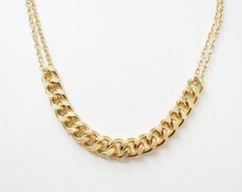 Gold Two Chain Necklace