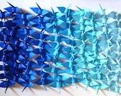 100 Small Origami Cranes Origami Paper Cranes Paper Crane Origami Crane - Made of 7.5cm 3 inches Japanese Paper - 5 Blue Colors