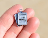 1  Silver Movie Ticket Charm SC2806