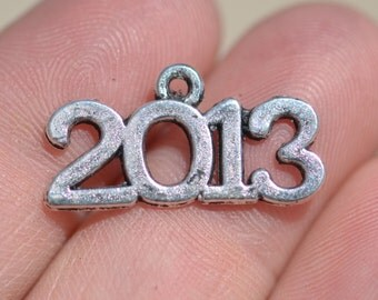 5 Silver Year 2013 Charms SC2911