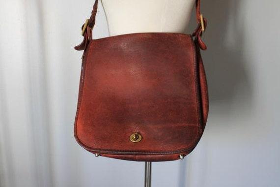 Vintage Coach Leather Saddle Bag Purse Vintage Coach Cross