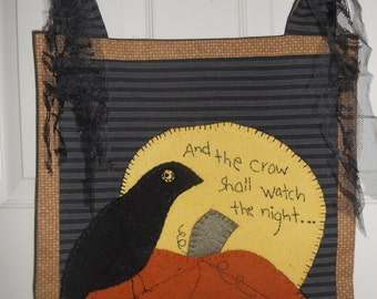 Fall Wall hanging, Embroidered Wall hanging