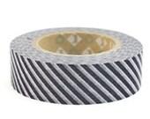 mt Washi Masking Tape - Grey Stripes (Discontinued) (15m roll)