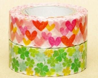 NamiNami Washi Masking Tape - Random Hearts & Clovers