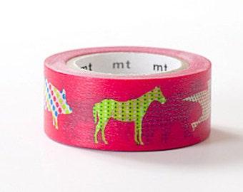 mt ex Washi Masking Tape - Animal Dot