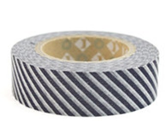 mt Washi Masking Tape - Grey Stripes (Discontinued) (15m roll)