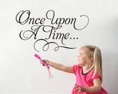 Once Upon A Time Wall Decal Fairy Tale Script Type