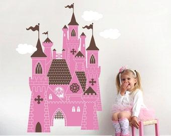 Princess Castle Wall Decal: Castle Decal Fairy Tale Decor