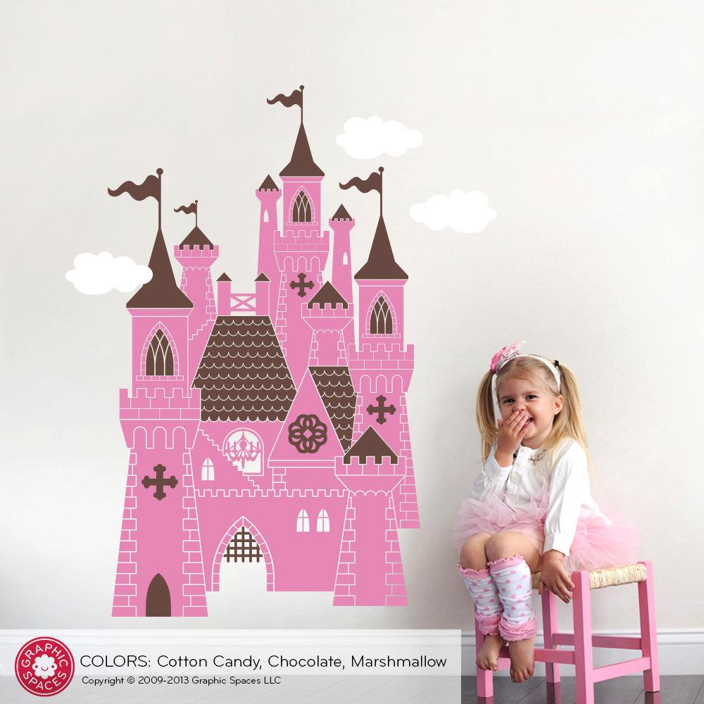 Princess castle wall decal castle decal fairy tale princess - Princess party wall decorations ...